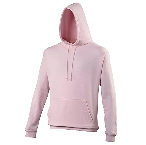 Pullover College Hoodie - 46 Different Colours Available Baby Pink