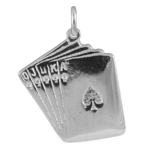 Ciondolo TheCharmWorks in argento Sterling a forma di carte da gioco / Poker