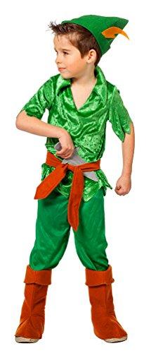 Karneval-Klamotten Peter Pan Kostüm Kinder Bogenschütze Kostüm Jungen-Kostüm mit Stulpen und Messer Größe ()