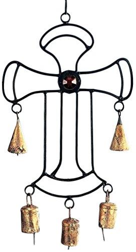 stealstreet 30,5cm Eisernes Kreuz Chime mit Glas Akzente