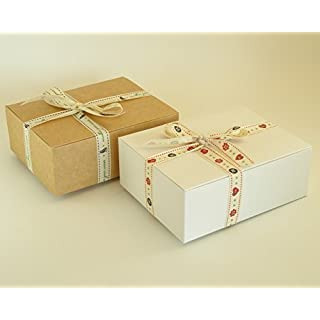 Pack of 5 x Self Assembly Gift Boxes, 15cm long x 12cm wide x 5.5cm deep. Great for fudge, toiletries, scarves, jewellery etc. (Box #C)