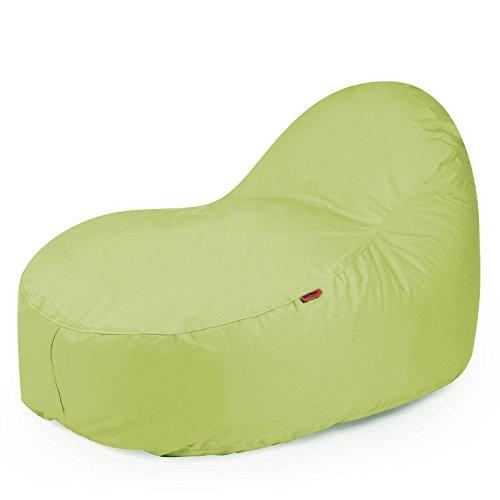 Outdoor Sitzsack 'Slope XL Plus' wetterfest frostsicher Gartenstuhl Gartensessel Gartenliege für draußen Outdoor Lounge Gartenmöbel Liege modern ausgefallen (Lime)