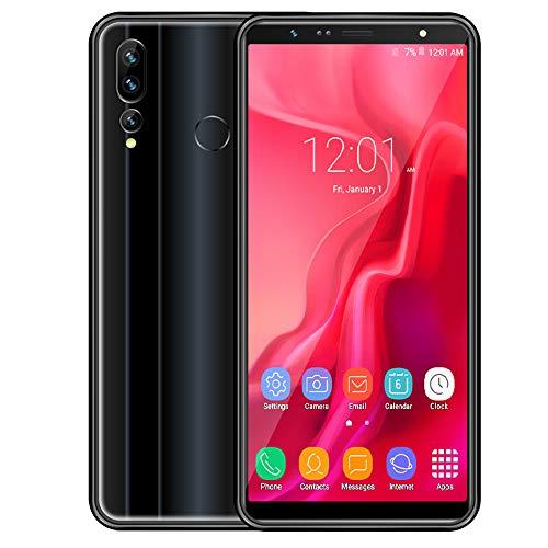 FSM88 6,0-Zoll-Smartphone, 2MP + 5MP Pixel-Gesichtserkennungs-Farbverlauf 6,8 mm ultradünnes 3G-Handy, 1 GB RAM + 16 GB ROM-Android-Telefone,Black (Handy Dual Entsperrt Quad-band Sim)