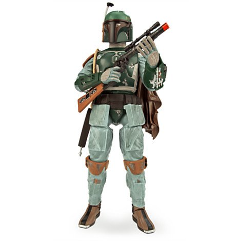 Offizielle Disney Star Wars 34cm Reden Boba Fett Figur (English Version) (Boba Fett Jetpack)