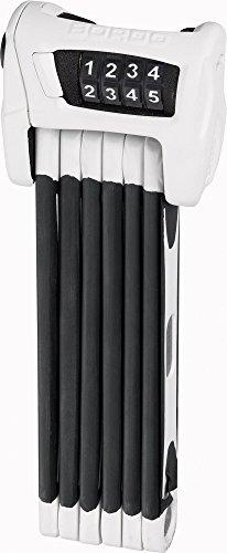 Abus Faltschloss Bordo Combo 6100/90, White, 90 cm, 52638 (White Combo)