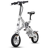 Bicicleta Eléctrica Plegable para Adultos 12 Pulgadas, Batería De Litio 36V 250W Batería Eléctrica Plegable