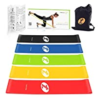 TOPLUS Resistance Bands, Workout Bands 5 Different Levels of Resistance Exercise Bands 5 Pack Loop Bands for Home Workout,Legs and Glutes, Arms, Physio, Pilates, Yoga, and Strength