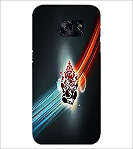 PrintDhaba Lord Ganesha D-4532 Back Case Cover for SAMSUNG GALAXY S7 (Multi-Coloured)