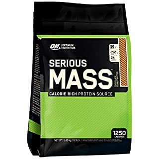 Optimum Nutrition Serious Mass Weight Gainer Whey Protein Powder with Vitamins, Creatine and Glutamine. Protein Shakes by ON - Chocolate Peanut Butter, 16 Servings, 5.45kg