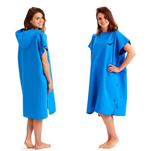 Fit-Flip Surf Poncho-Größe L-blau_ Handtuch Bademantel, Handtuch Robe, Kapuzen Surf Poncho, Handtuch mit Ärmel