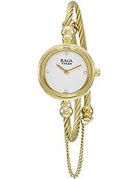 Titan Analog White Dial Women's Watch-2586YM01