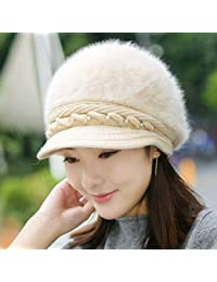 ZKADMZ  Elegante Sombrero De Invierno De Mujer Sombreros De Punto De Otoño  para Mujer Gorras abb4974c8d2
