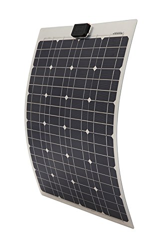 ECO-WORTHY 40 Watt Semi Flexible Monocry Stal Line PV Solar Panel for RV Boat Marine Battery Charging 12 V system -
