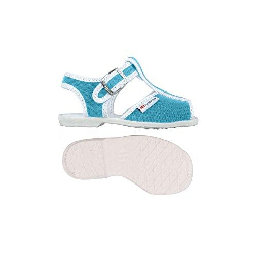 Superga 1200-Cotj, Chaussures à Brides Unisexe-Enfant, Rose Turquoise