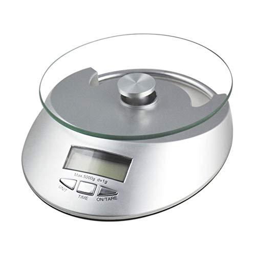 BAIYI Digitale Küche Scale Multifunktion Lebensmittel-Skala Liquid Volumen, 11lb 5kg, Backlight LCD-Display Digital Liquid Scale