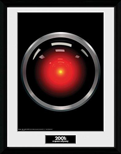 1art1® 2001: Una Odisea del Espacio - HAL 9000 Póster De Colección Enmarcado (40 x 30cm)