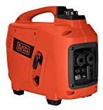 Black+Decker Inverter Stromgenerator Benzin, 2000 Watt, 4 Takt Motor, automatischer Spannungsregler, Ölwarnsystem, für Garten, Camping, Werkstatt, etc. Koffergenerator