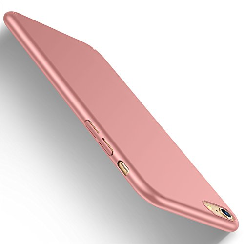 iPhone 6s Hülle, iPhone 6 Case, HUMIXX [PZQ Seris] Hochwertigem Stoßfest Anti-Fingerabdruck Anti-Scratch FeinMatt FederLeicht Hülle Bumper Cover Schutz Tasche Schale Hard case für iPhone 6s 6 (Rose Gold) (Gold I Phone 6 Cover)