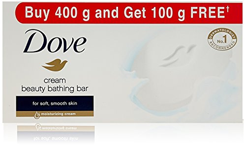 Dove Cream Beauty Bathing Bar,Buy 400 g and get 100...