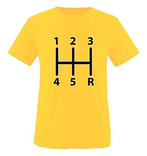 Comedy Shirts - Gangschaltung - Mädchen T-Shirt - Gelb/Schwarz Gr. 98-104