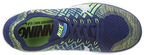 Nike Free 4.0 Flyknit, Scarpe sportive, Uomo Blau (Brave Blue/White-Black-Volt)