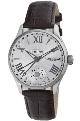 Louis Erard Men's Analogue Automatic Movement Watch with Leather Strap 1931 Moon Phase 37213AA21.BDC21