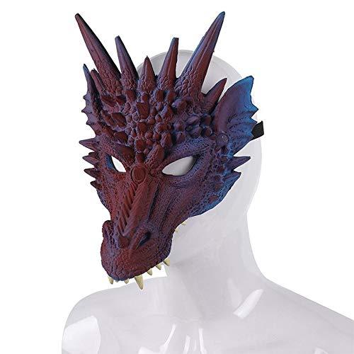 Halloween Mascarada Kostüm - womdee Drache Maske, 3D Drache Cosplay Maske Party Kostüm Maske für Karneval, Halloween Scary Maske