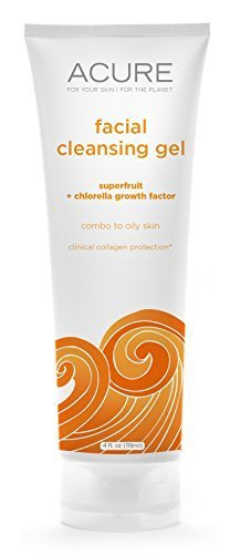 Acure Facial Cleanser Gel Superfruit + Chlorella Growth Factor, 4 oz by Acure
