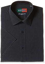 Peter England Mens Formal Shirt (8907495192741_PSF1041600851_40_BlackSolid)
