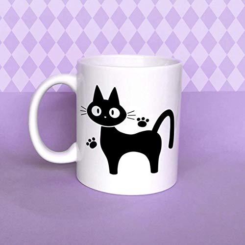 Jiji the Cat Mug Kiki'S Delivery Service Mug Studio Ghibli Mug Cat Mug Cat Lover Mug White Ceramic Mug 11oz
