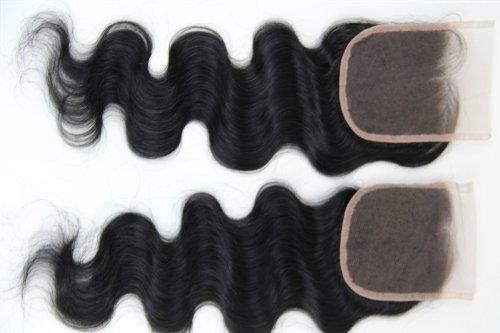 30,5 cm cheveux vierges brésiliens Ondulés dentelle fermeture/fermeture supérieure (12,7 x 12,7 cm) couleur naturelle 120% Densité