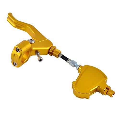 H2RACING Gold Stunt Kabel Kupplungshebel Kit für Speed Triple R 2012-2017,1050/S 2016-2017,1050 2011-2015,Daytona 675 2006-2017,675 R 2011-2017,675 Street Triple 2008-2016 Gold-triple-kabel