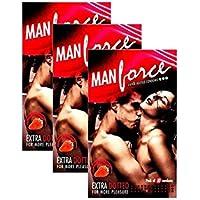 Manforce Extra-punktierte Erdbeer Kondome (Packung mit 3x10) von GladnessEra preisvergleich bei billige-tabletten.eu