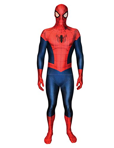 Man Amazing Kostüm Spider The Kinder (Marvel Amazing Spiderman 2 Morphsuit Lizenzware rot-blau L (bis zu 1,80)