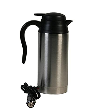 12V 750ml Edelstahl-Auto-Heizungs-Schalen-Auto-elektrischer Kaffeetasse Thermos-Art Heizung heißer Getränk-Reise-Schale Edelstahl-Thermoskanne