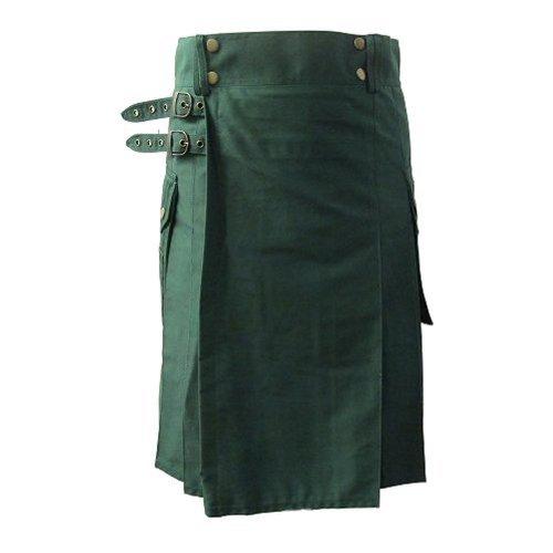 Preisvergleich Produktbild Cargo-Kilt für den aktiven Mann - Grün - UK46 (116 cm)