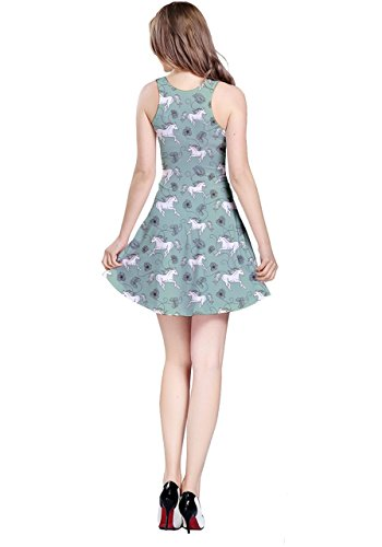 CowCow - Robe - Femme Colorful Woodland Green Horses