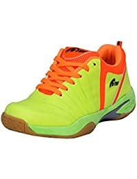 B-Tuf FIRE Badminton Shoes Unisex (Green/Orange)