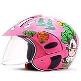 ZBTK Helm- Kinderhelm Elektro Fahrrad Fahrrad Cartoon Vier Jahreszeiten Junge Mädchen Einstellbare Größe (Farbe : Pink, größe : 10.6'x8.3'x7.9')