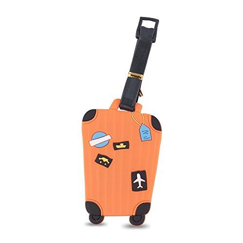 SG Orange Luggage Tag (2429)