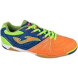 JOMA Dribling, Zapatos de Futsal Unisex Adulto, Naranja (Orange-Royal), 43 EU