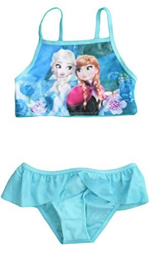 Disney ELSA Anna ELSA Badeanzug (6/7 Jahre, Blau) (Disney Junior Kostüme)