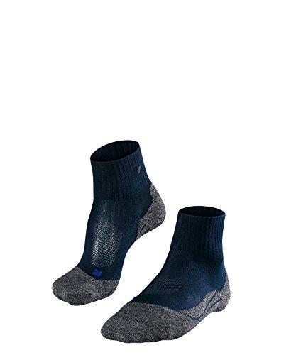FALKE TK2 Short Cool Damen Trekkingsocken / Wandersocken - blau, Gr. 41-42, 1 Paar, knöchel-high (kurz), kühlende Wirkung, mittelstarke Polsterung -