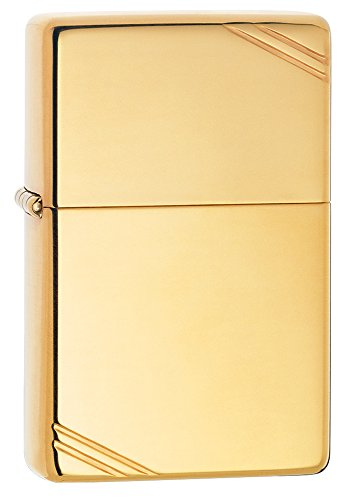 Zippo Vintage w/Slashes High Polish Brass