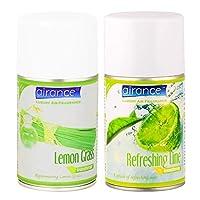 Airance Room Freshner Spray Aroma Perfume Refill Lemon Grass & Refreshing Lime - 250 ML - Pack of Two - Fit All Machines Using 250 ML / 300 ML Bottles