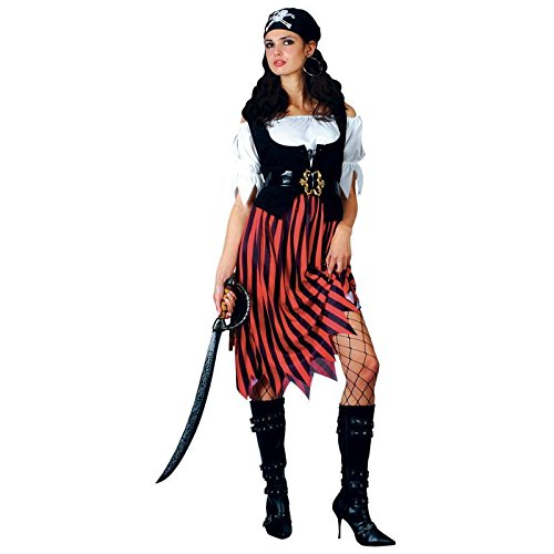 Lady Pirate Fancy Dress - Adult Pirate Fancy Dress Lady Of