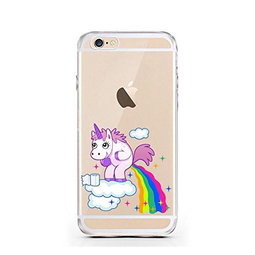 iPhone 7 Hülle von licaso® für das Apple iPhone 7 aus TPU Silikon Panda 2 Panda-Bär Schwarz Weiß Bärchen Muster ultra-dünn schützt Dein iPhone 7 & ist stylisch Case Design Schutzhülle Bumper in einem  Einhorn Wolke