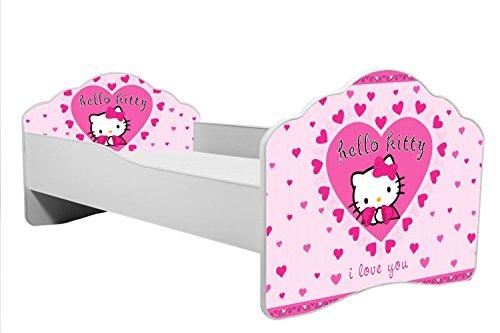 """Bett für Kinder """"hello kitty"""" Kinderbett Größe 160x80 cm mit einer Matratze"""