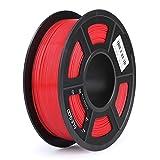 ELEGOO PLA Filamento de Impresora 3D, Precisión Dimensional +/- 0.03 mm, 1kg Carrete, 1.75mm-Rojo
