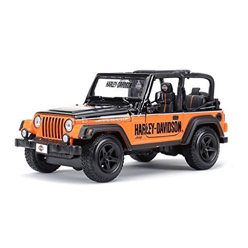 Maisto Modello Auto 1:24 High Simulator Modello in Metallo Auto Jeep Jeep Wrangler Model Car Lega Giocattoli per Bambini Collezione Regalo Scala Simulazione Veicolo ( Color : Orange )